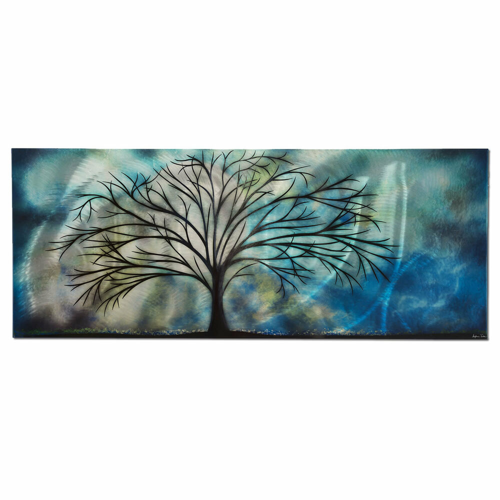 Unique modern contemporary abstract painting metal wall for Wall artwork paintings