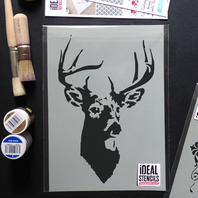 Stag Stencil Deer Stags Head Reusable Home Wall Decor
