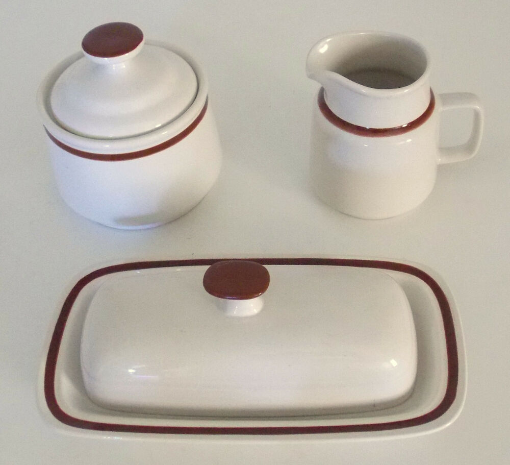 Vintage Genuine Stoneware Table Accesory Set Creamer