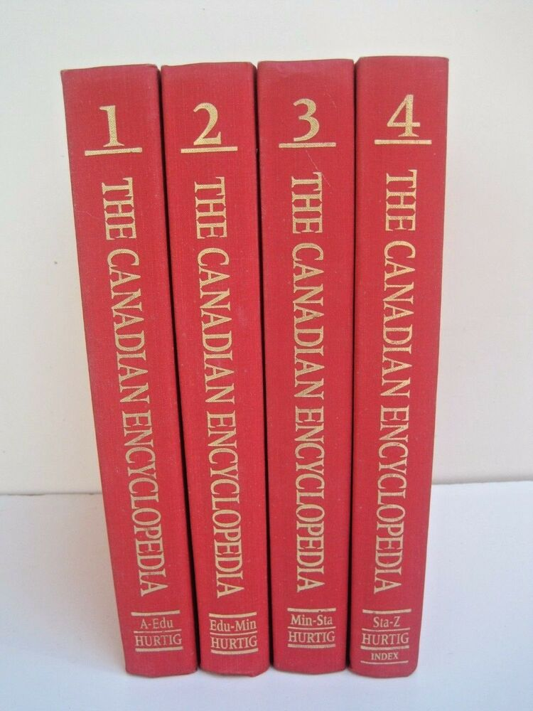 The Canadian Encyclopedia Second Edition Four Volumes EBay - The canadian encyclopedia