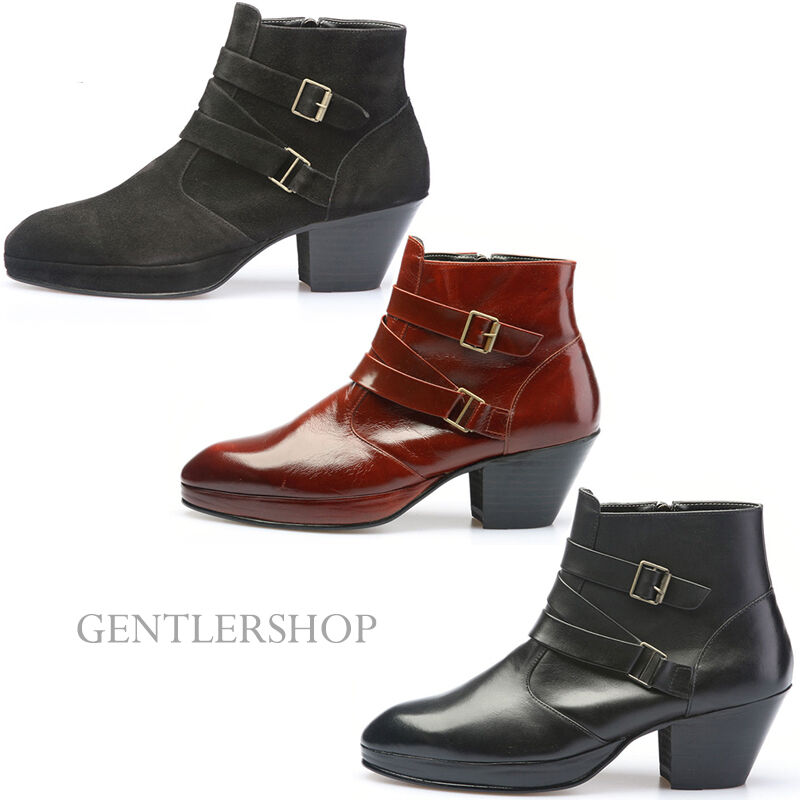 High Heeked Shoes Boots For Men