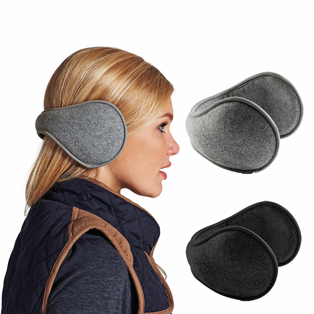 Mens Ladies Unisex Soft Fleece Wrap Around Adjustable Ear ...