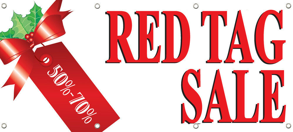 red tag sale 50