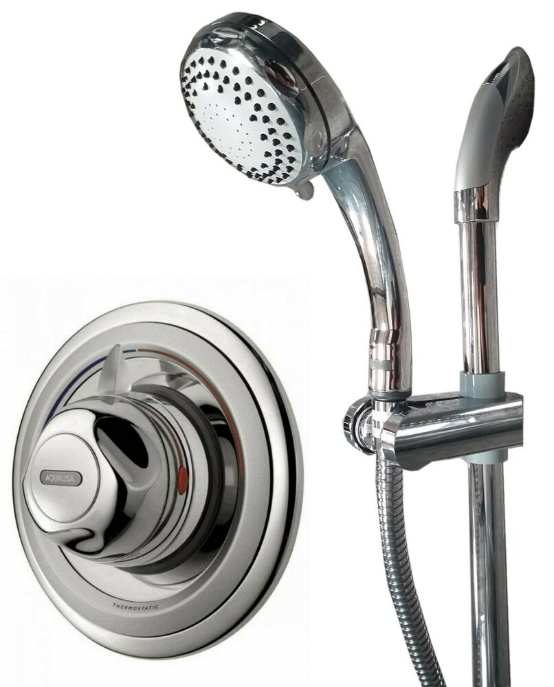 Aqualisa Aquavalve 609 Thermostatic Mixer Shower Valve Set Head Bathroom Chrome 5023942058330 Ebay