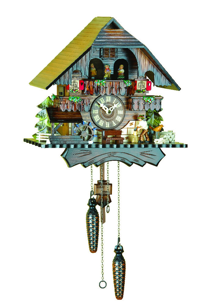 Cuckoo clock quartz, turning dancers- 12 melodies- Made in ...