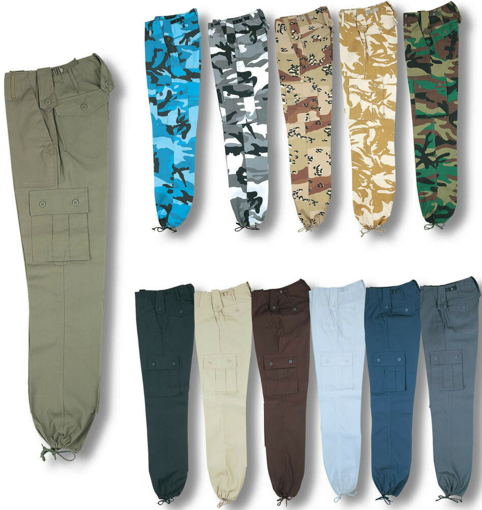 Combat Style Trousers with lots of pockets. These make great work trousers as they are made from heavy duty material. The waistband has side elastic for extra comfort.