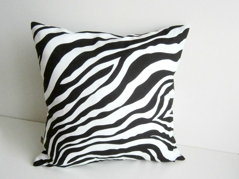 animal print kissenbezug kissenh lle kissen deko zebra. Black Bedroom Furniture Sets. Home Design Ideas
