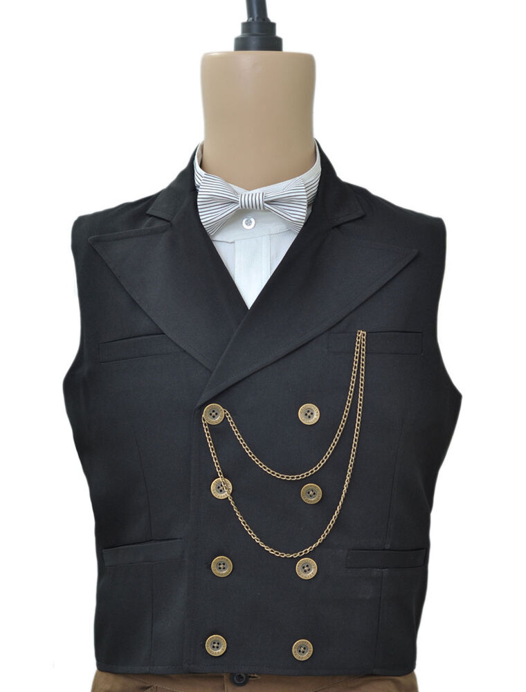 Black Suit and Waistcoat You can't go wrong with a classic black suit and matching waistcoat, especially where formal events are concerned. It's the most accepted attire for men's formalwear, so you'll be a winner if you turn up wearing this.