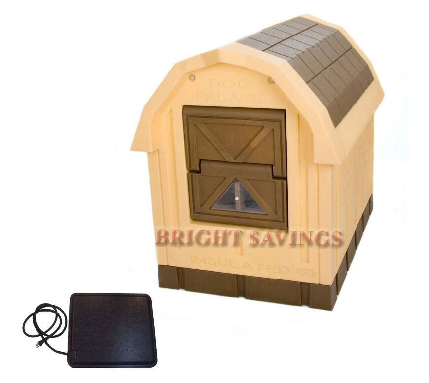 New Heated Insulated Large Dog House Deluxe Dog Palace