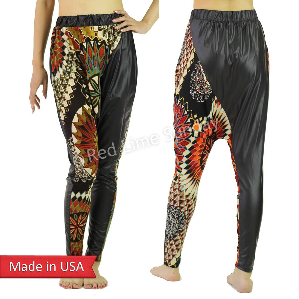 girls's black harem pants