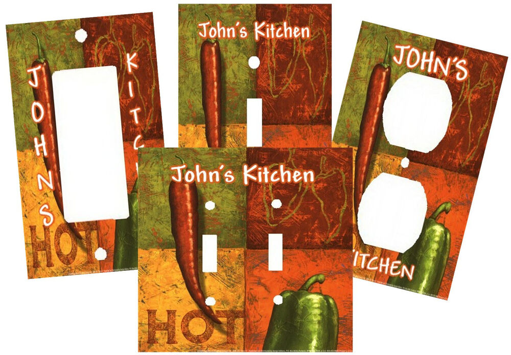 Personalized Red Hot Chili Peppers Kitchen Light Switch