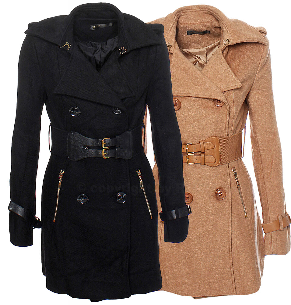 hot damen jacke wollmantel outdoor mantel herbst trenchcoat parka wintermantel ebay. Black Bedroom Furniture Sets. Home Design Ideas