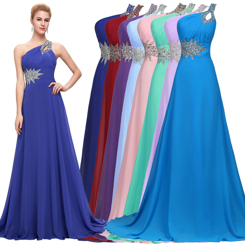 Cheap Wedding Dresses Ebay: CHEAP~ Long Chiffon Evening Gown Bridesmaid Dresses Prom