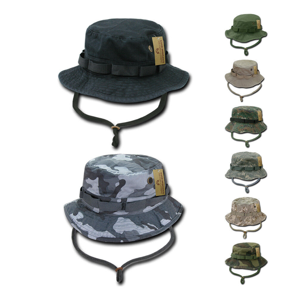 3ae820d3a1f Details about Rapid Dominance Boonies Bucket Camo Military Fishing Hunting  Rain Hats Caps