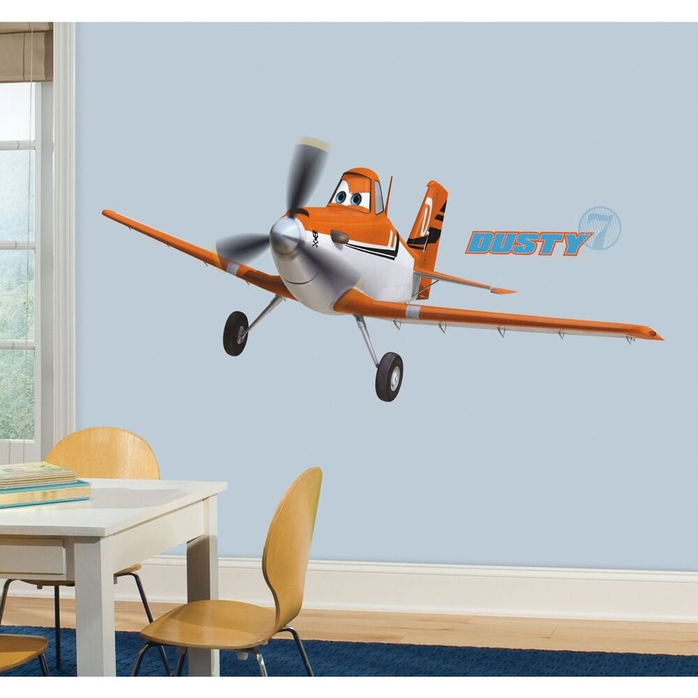 Disney dusty crophopper planes giant wall decals airplanes for Disney planes wall mural