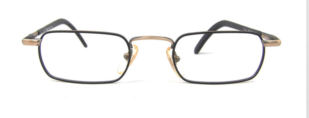 Eyeglass Frames Lincoln Ne : Vintage Club LA 56 Rectangular Small Sleek Gold Metal ...