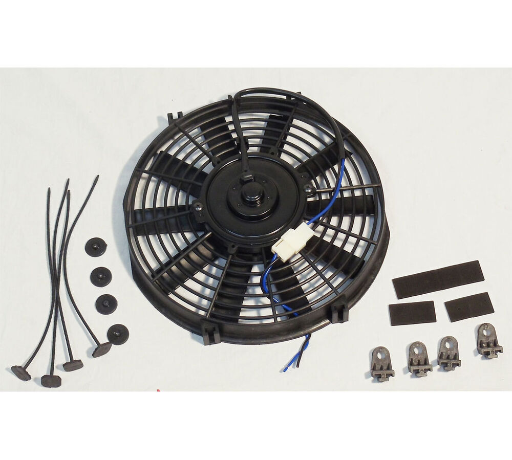 12 Volt Cooling Fans : Electric quot straight blade reversible cooling radiator fan