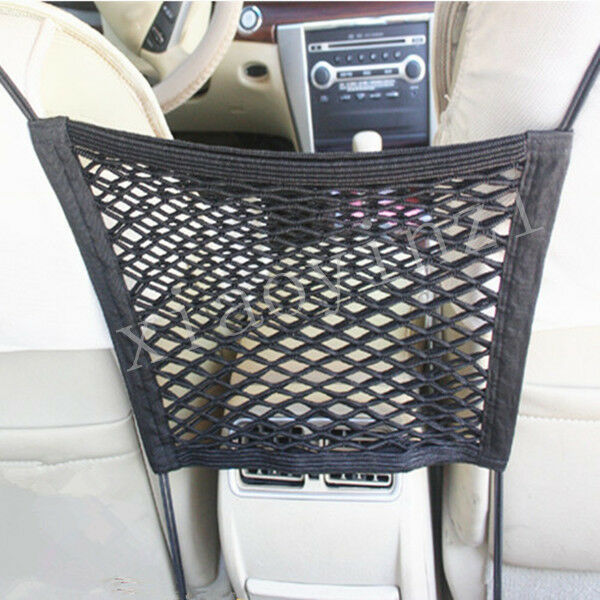 seat mesh organizer storage net between car seat pocket ebay. Black Bedroom Furniture Sets. Home Design Ideas