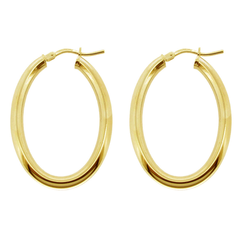 9ct Gold Plated 925 Silver Small Medium Large Polished