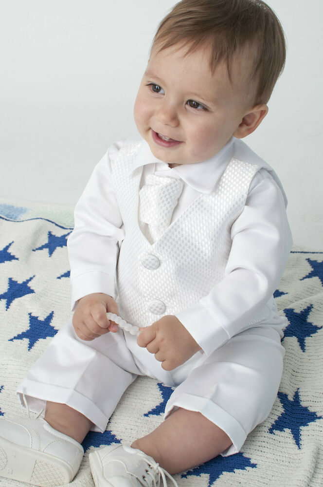 Baby Boys 4 Piece Christening Outfit / Christening Suit ...