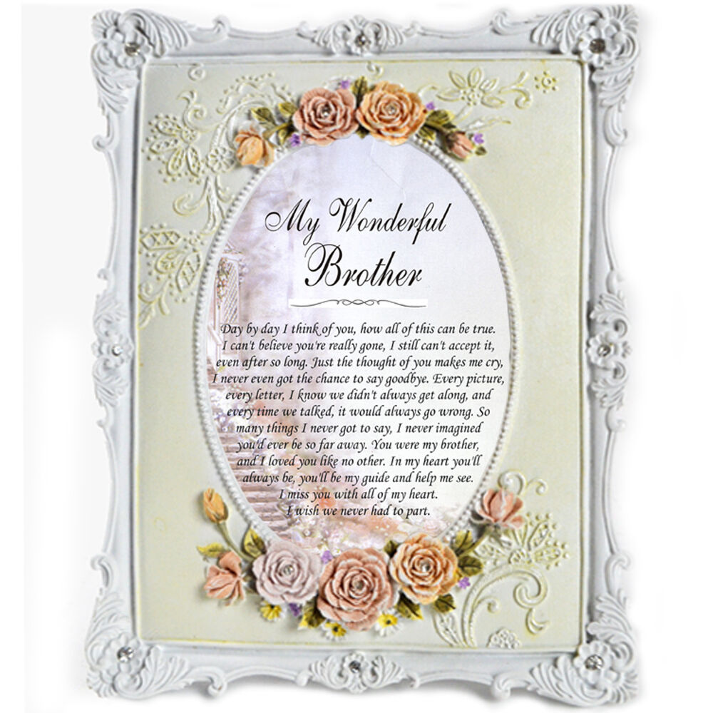 Memorial Brother Personalised Gift Frame