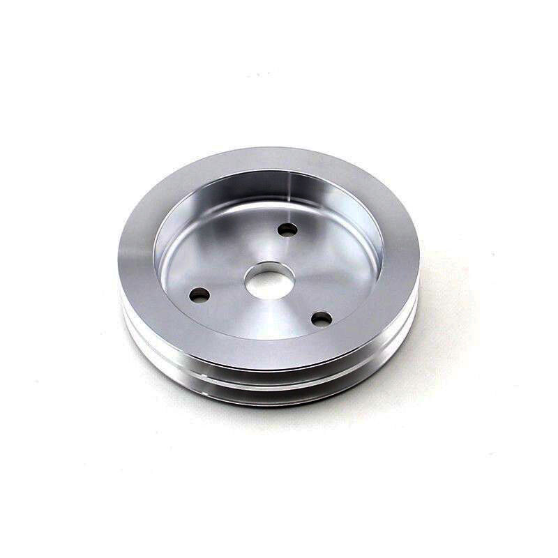 SBC Chevy Aluminum Crank Pulley Double 2 Groove For Short