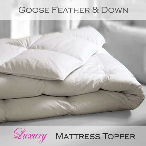 Luxury White Goose Feather And Down Full Bed Mattress