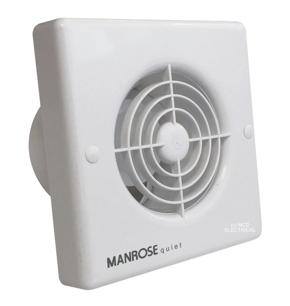 Manrose qf100t quiet extractor fan with timer for 4 for 6 bathroom extractor fan with timer