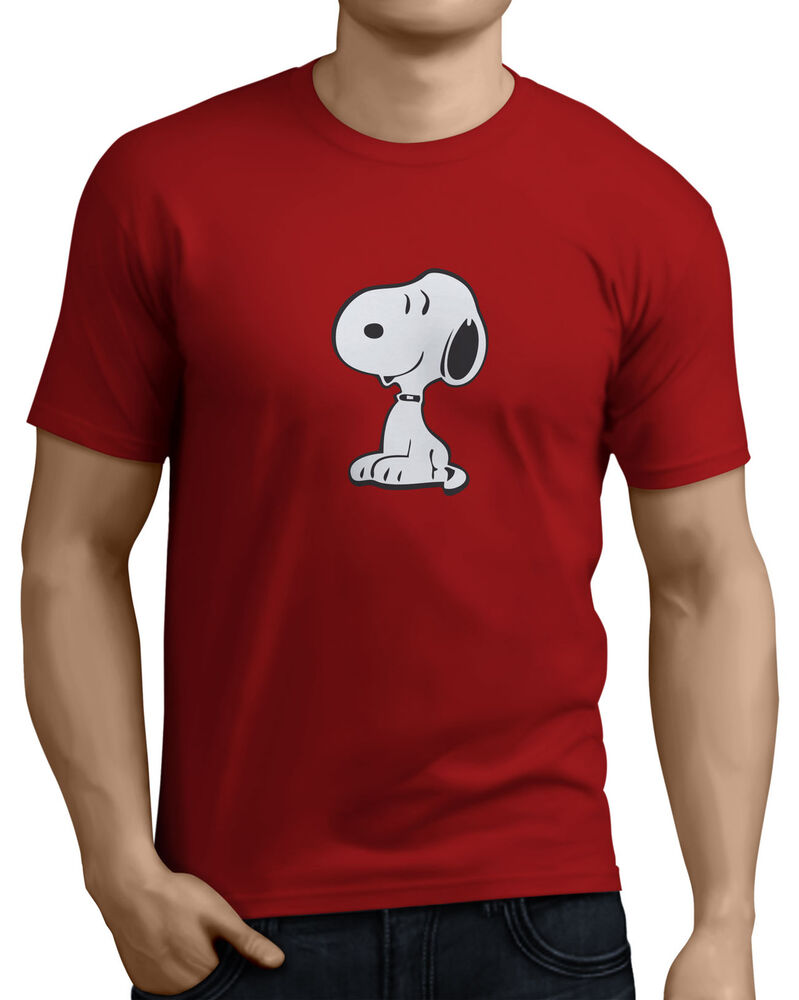 Snoopy Siting Mens Funny Retro T Shirts 14 Colors Sizes