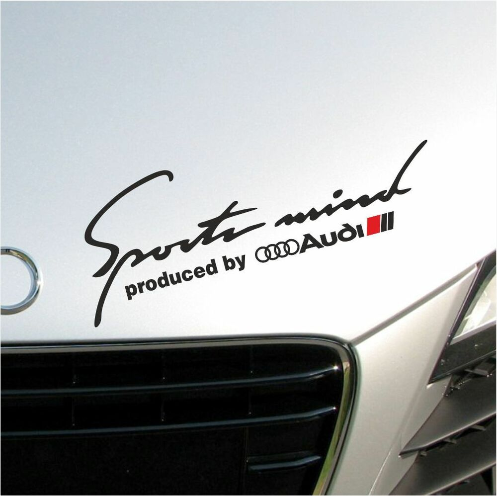 Sports Mind Powered By Audi Sport Vinyl Decal Sticker: SPORTS MIND PRODUCED BY AUDI A3 A4 A5 A6 A7 A8 S4 S5 S6