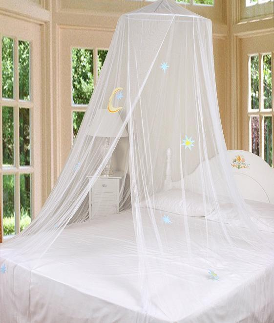 white bed canopy mosquito netting with hook good night. Black Bedroom Furniture Sets. Home Design Ideas