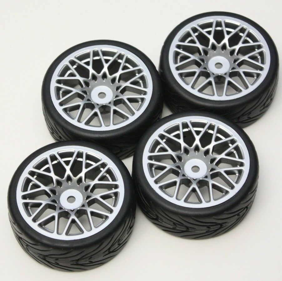 R/C Sport 1/10 Scale Rims And Tires RC Car Pre-Glued ! 4
