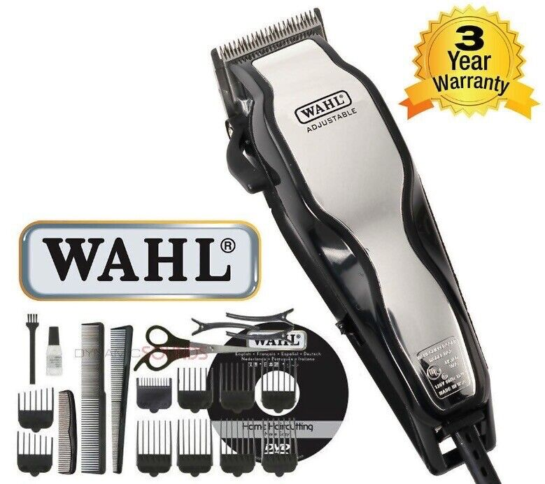 wahl chrome pro complete haircutting kit wahl 79524 800 chrome pro complete home hair cutting 5119