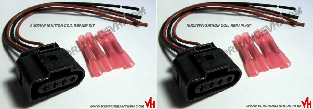 Ignition Coil Wiring Harness Repair Kit : Audi vw ignition coil connector repair kit harness plug