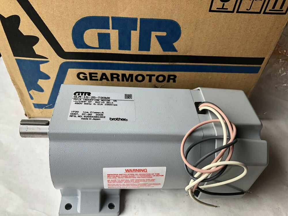New brother glm 15 25 t90wx induction gear motor 1 10hp for 15 hp single phase motor