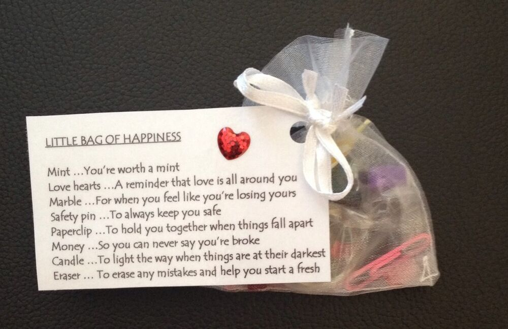 little bag of happiness christmas gift birthday wedding favour thank