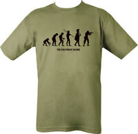 Evolution of Soldier T Shirt Army military SIZE SMALL