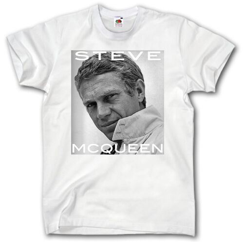 steve mcqueen t shirt s xxxl bullitt porsche racing ford mustang auto film star ebay. Black Bedroom Furniture Sets. Home Design Ideas