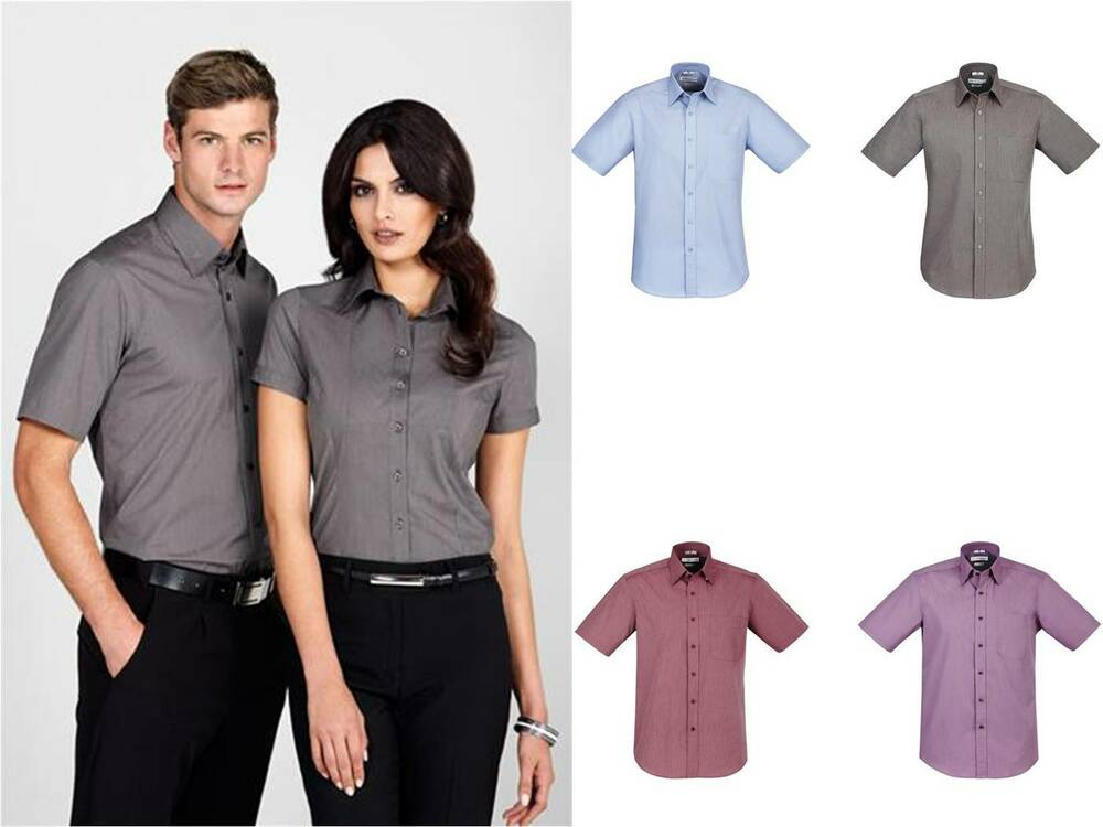 Business shirt mens chevron short sleeve corporate uniform for Corporate shirts for men
