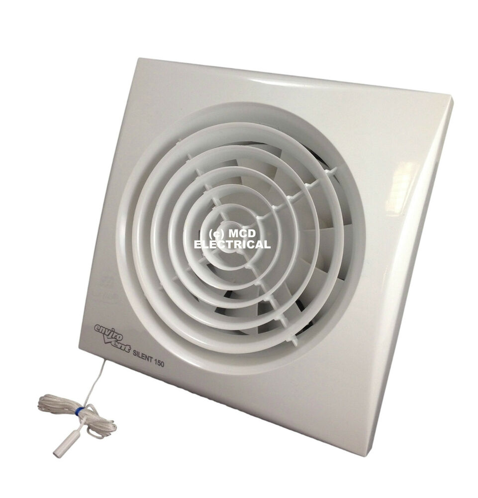 Silent Extractor Fan : Envirovent silent p extractor fan with pull cord for