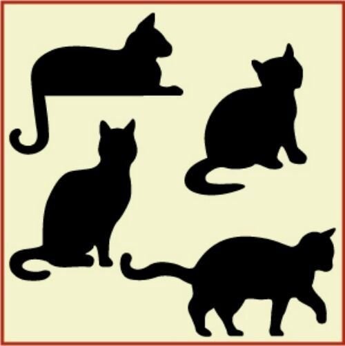 Versatile image intended for cat stencil printable