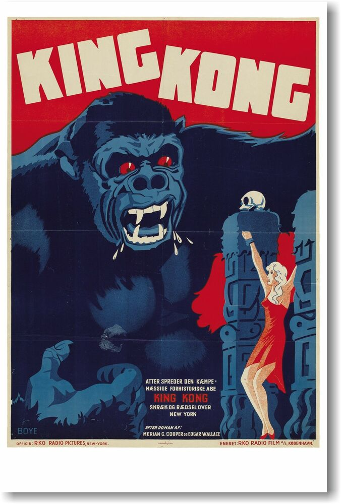 King Kong - German - NEW Vintage Movie POSTER | eBay