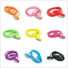 10 COLOR 3FT USB Sync Data Charging Charger Cable Cord For iPhone 4S 4G 3GS