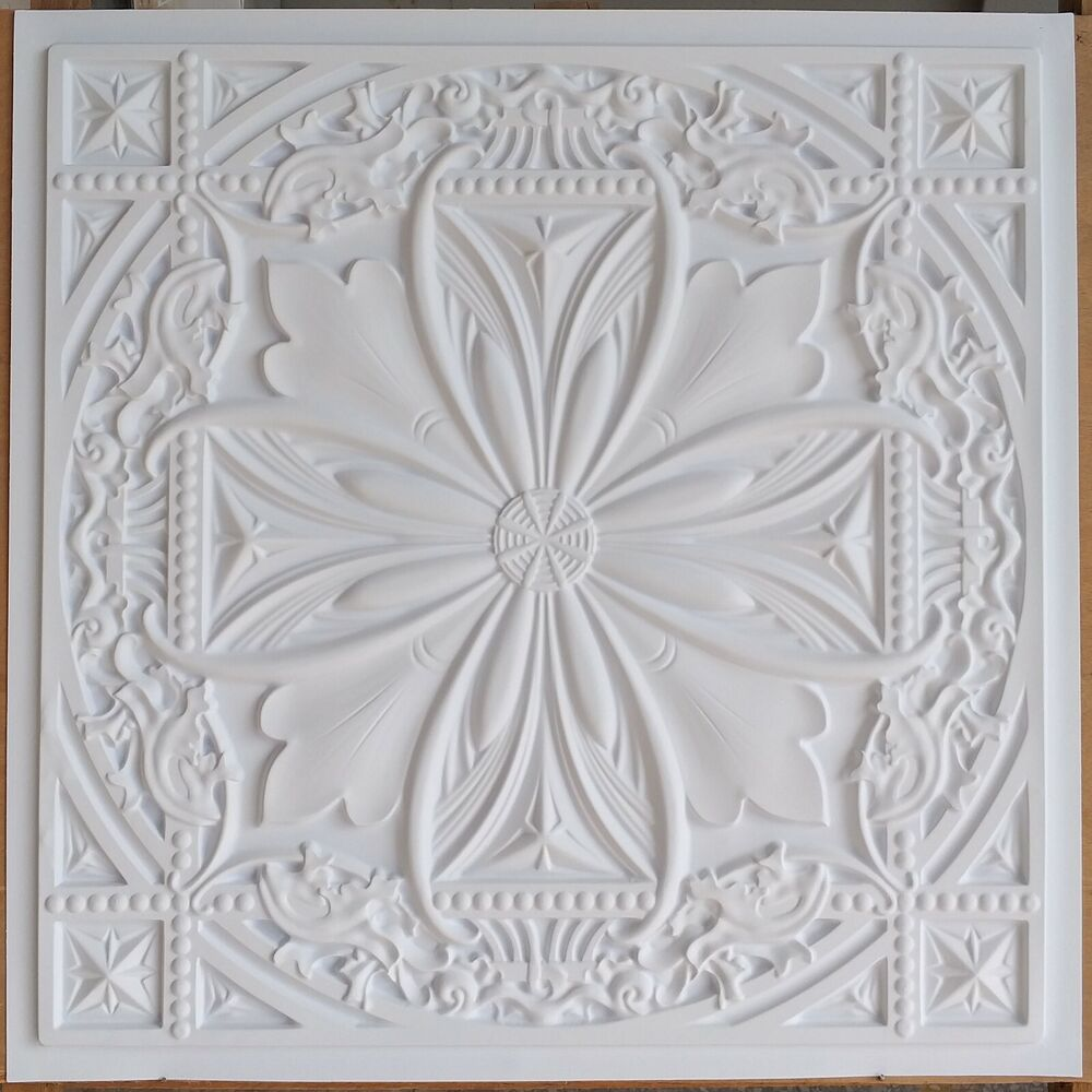 Pl10 faux tin pvc 3d embossed cafe club roof pub ceiling for Advanced molding and decoration s a de c v