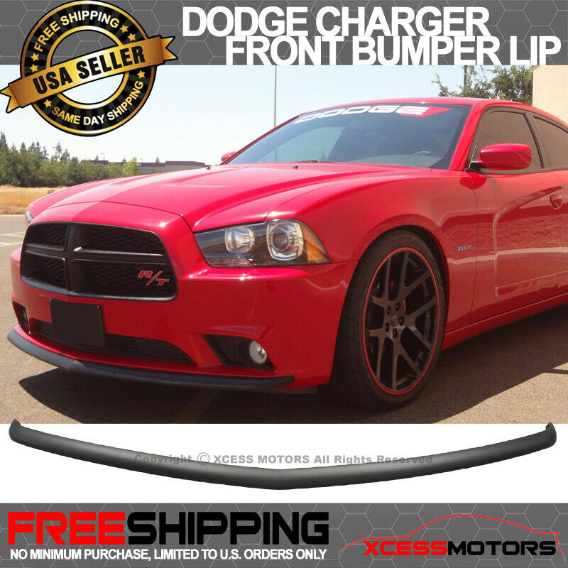 11 14 dodge charger pp polypropylene front bumper lip. Black Bedroom Furniture Sets. Home Design Ideas