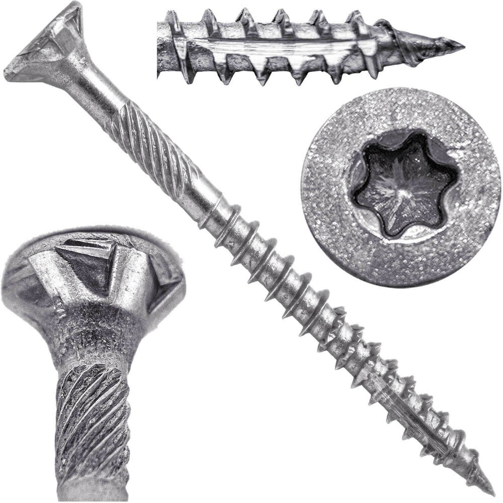 Silver star stainless steel wood screws torx drive - Exterior wood screws for fencing ...