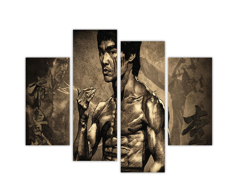 Extra Large Canvas Prints Legend Bruce Lee 4 Panel 35