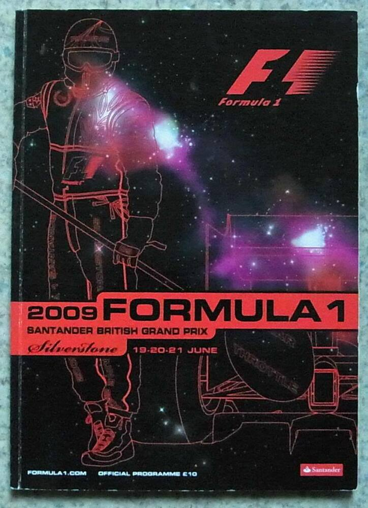 british grand prix silverstone 2009 formula one f1 official race programme ebay. Black Bedroom Furniture Sets. Home Design Ideas