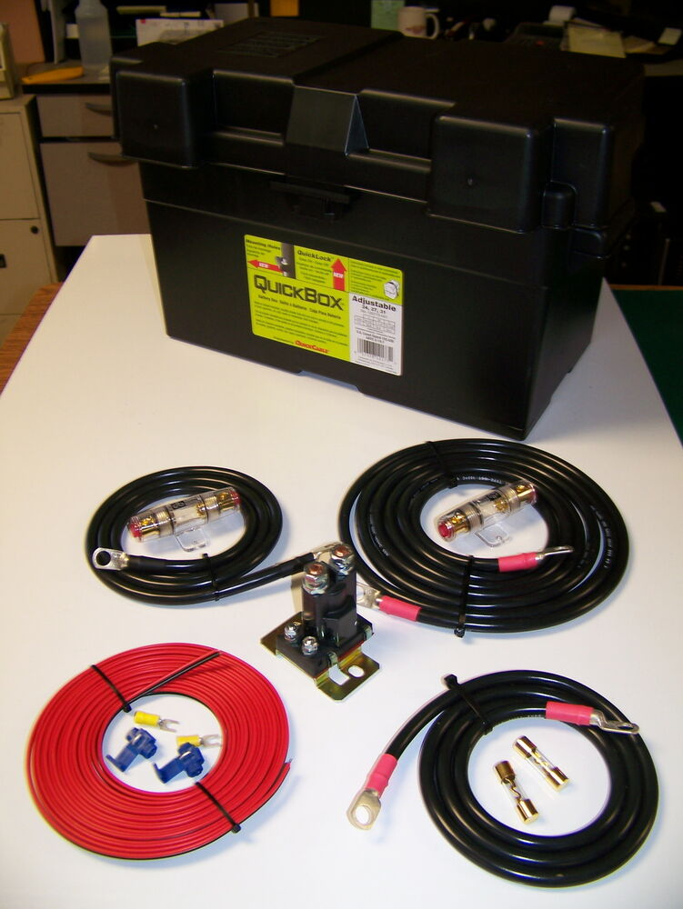 HEAVY DUTY DUAL / AUXILIARY BATTERY ISOLATOR W/ CABLES ...