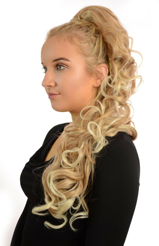Long Curly Wavy Style Ponytail Drawstring Clip Hairpiece